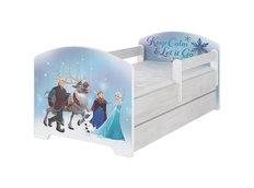 Detská posteľ Disney - ĽADOVEJ KRÁĽOVSTVO 160x80 cm