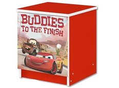 Detský nočný stolík Disney - CARS červený