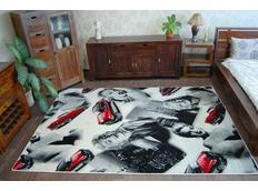 Dizajnový koberec MARILYN H177 čierno-biely