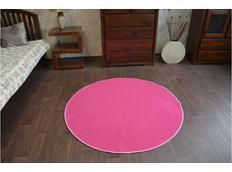 Okrúhly koberec RUŽOVÝ