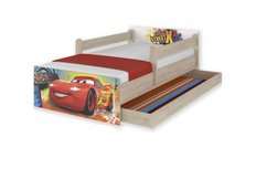 Detská posteľ MAX Disney - AUTA 160x80 cm - so zásuvkou