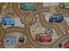 Detský koberec CARS hnedý 2