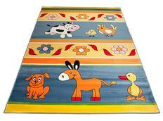 Detský koberec FARM BLUE - detské koberce