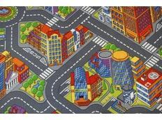 Detský koberec ULIČKA BIG CITY šedej