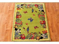 Detský koberec FUNKY ZOO green