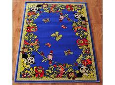Detský koberec FUNKY ZOO blue