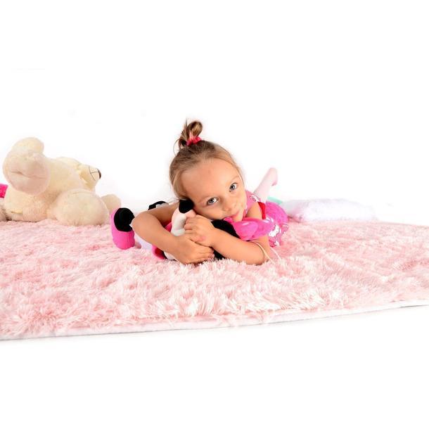 Plyšový detský koberec RUŽOVÝ