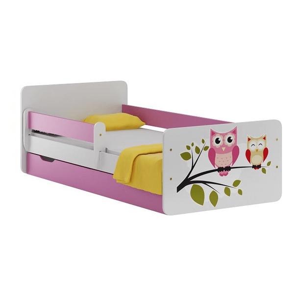 Detská posteľ so zásuvkou SOVY 140x70 cm
