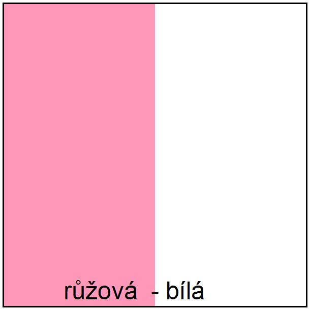 Farebné prevedenie - ružová / biela