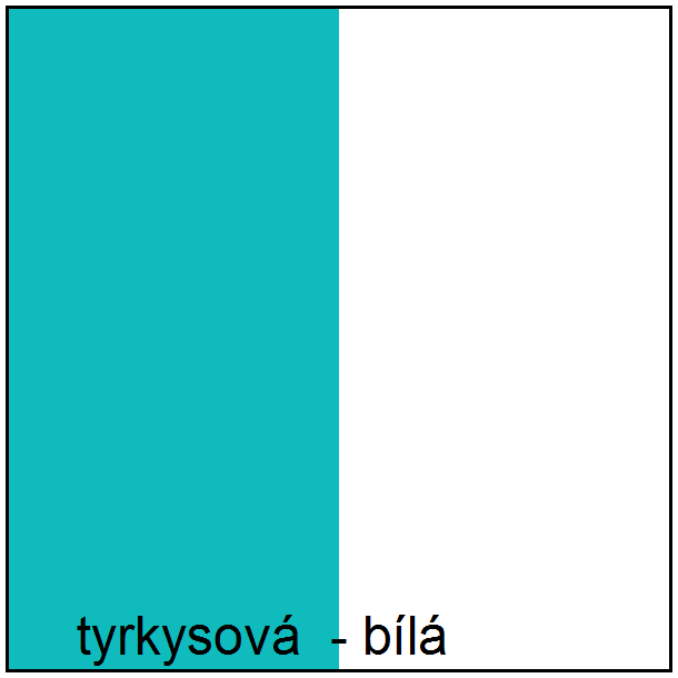 Farebné prevedenie - tyrkysová / biela