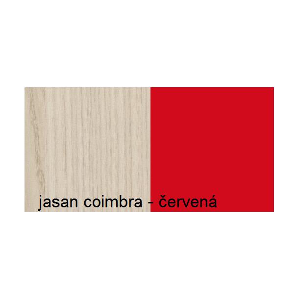 Farebné prevedenie - jaseň coimbra / červená