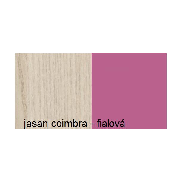 Farebné prevedenie - jaseň coimbra / fialová