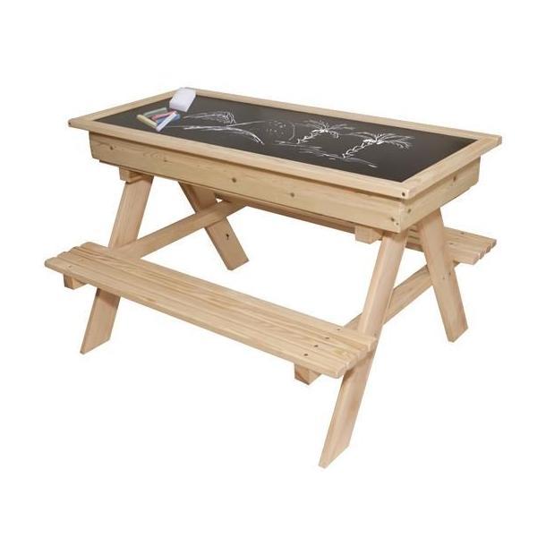 Detský drevený záhradný set + pieskovisko + tabuľa