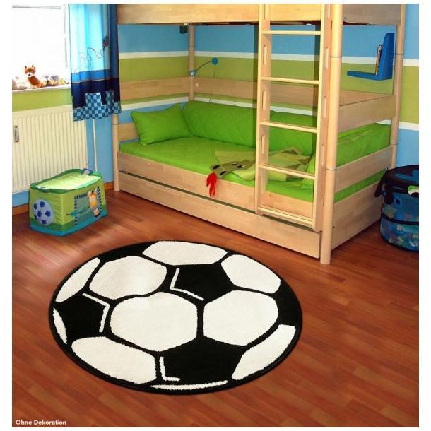 Detský koberec DESIGN Velours Futbal - guľatý