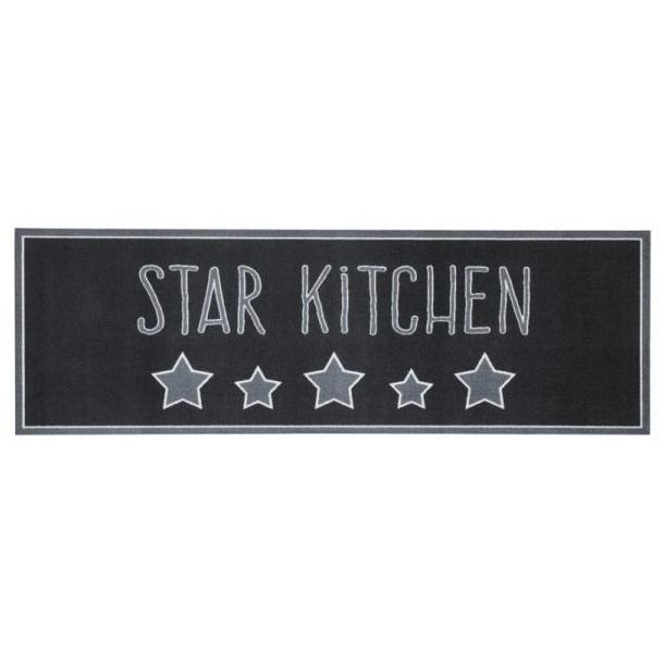 """Behúň KITCHEN Cook & Clean """"Star Kitchen"""" - čierny"""