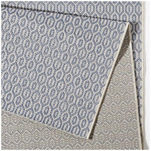 Kusový koberec Meadow Coin - modrý
