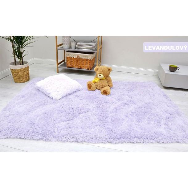 Detský plyšový koberec MAX levanduľovou