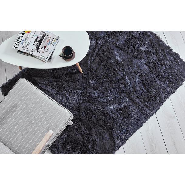 Plyšový detský koberec MAX TMAVO ŠEDÝ