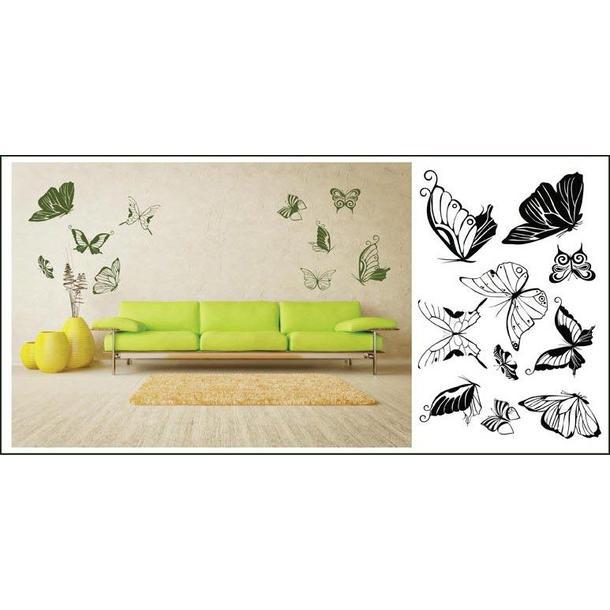 Samolepky na stenu Motýle COLOR - vzor 1