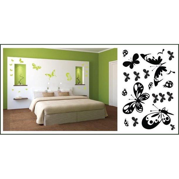 Samolepky na stenu Motýle COLOR - vzor 4