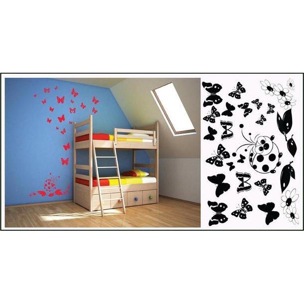 Samolepky na stenu Motýle COLOR - vzor 7