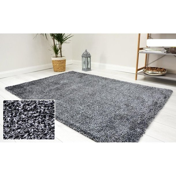 Kusový koberec Shaggy MAX velvet - tmavosivý