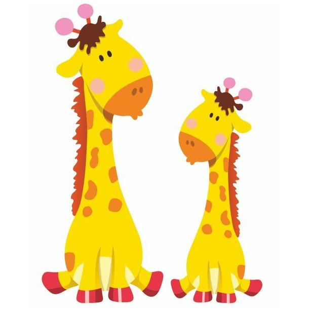 Samolepka ZVIERATKÁ - Žirafa