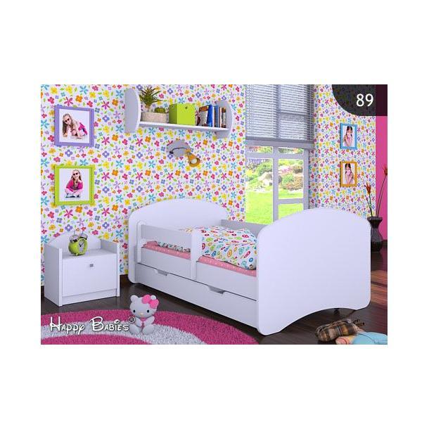 Detská posteľ so zásuvkou 140x70 bez motívu - biela