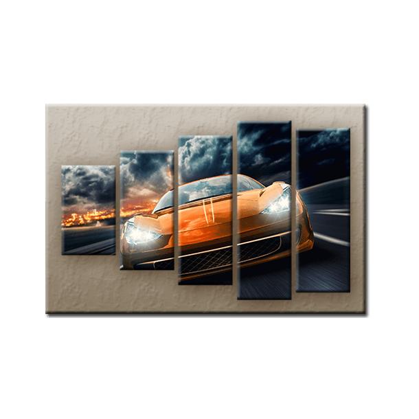 Päťdielny OBRAZ na plátne CAR - vzor 4