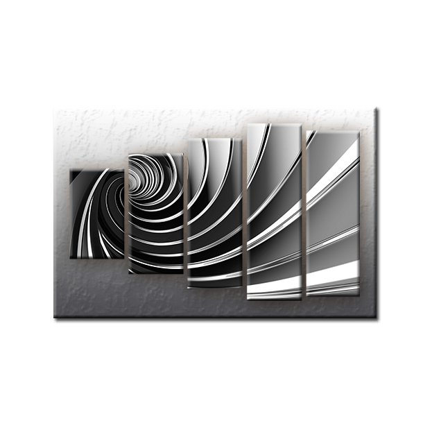 Päťdielny OBRAZ na plátne ŠPIRÁLA - vzor 19