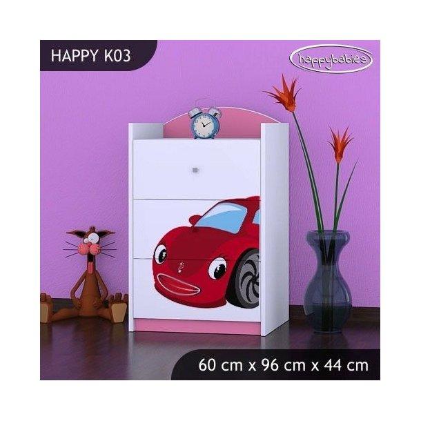 Detská komoda RED CAR - TYP 3