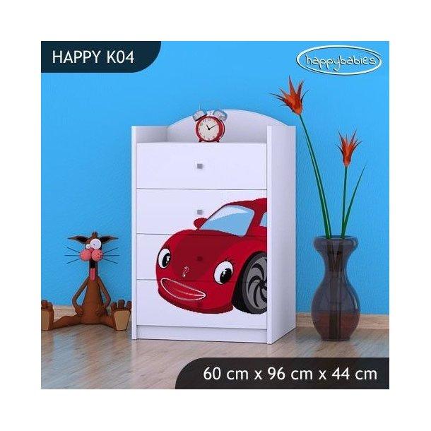 Detská komoda RED CAR - TYP 4