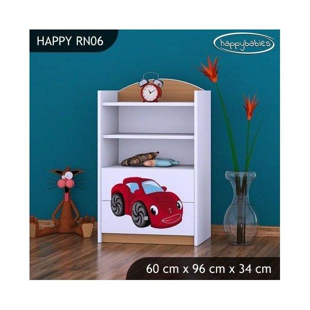 Detský úložný regál RED CAR - TYP 6 - NÍZKY