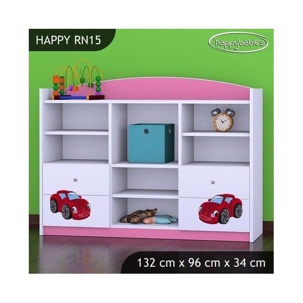 Detský úložný regál RED CAR - TYP 15 - NÍZKY