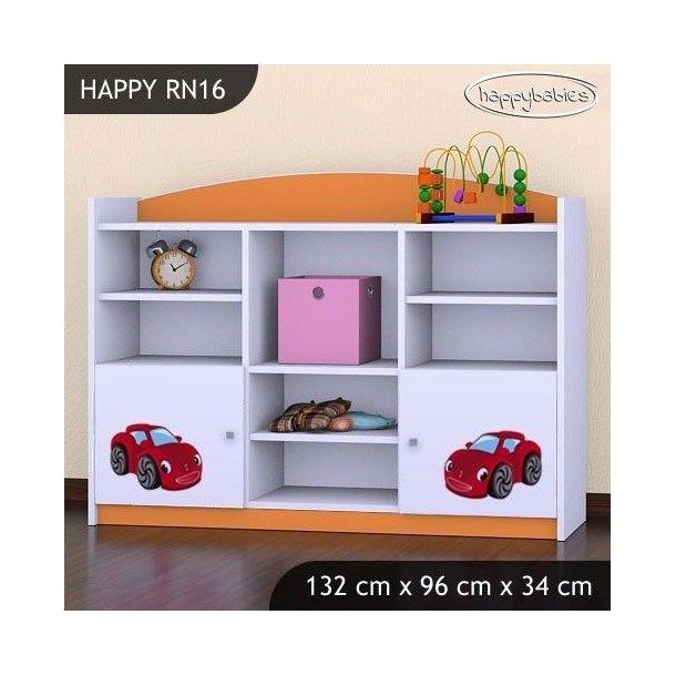 Detský úložný regál RED CAR - TYP 16 - NÍZKY
