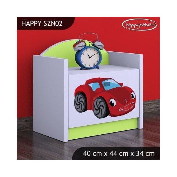 Detský nočný stolík RED CAR - TYP 2