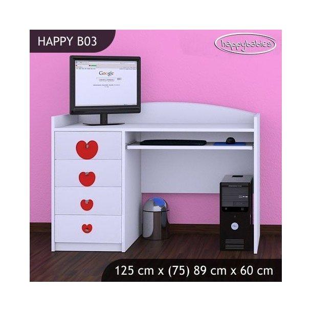 Detský písací stôl KVETINKY - TYP 3
