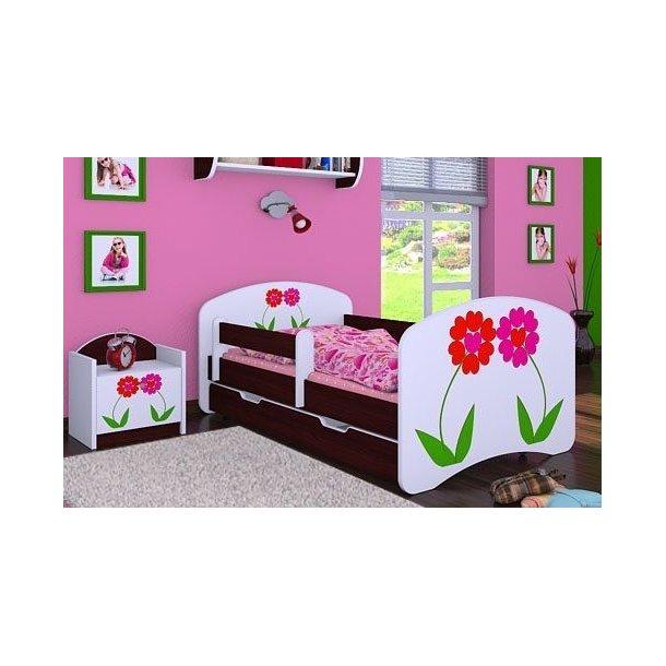 Detská posteľ so zásuvkou 180x90cm KVETINKY
