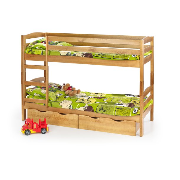 Detská poschodová posteľ so zásuvkami 190x80cm SAMUEL + matrace ZADARMO!
