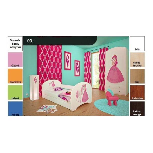 06591ee2bf738 Detská posteľ pre DVA (s výsuvným lôžkom) 200x90 cm - PRINCEZNA A KONÍK ...