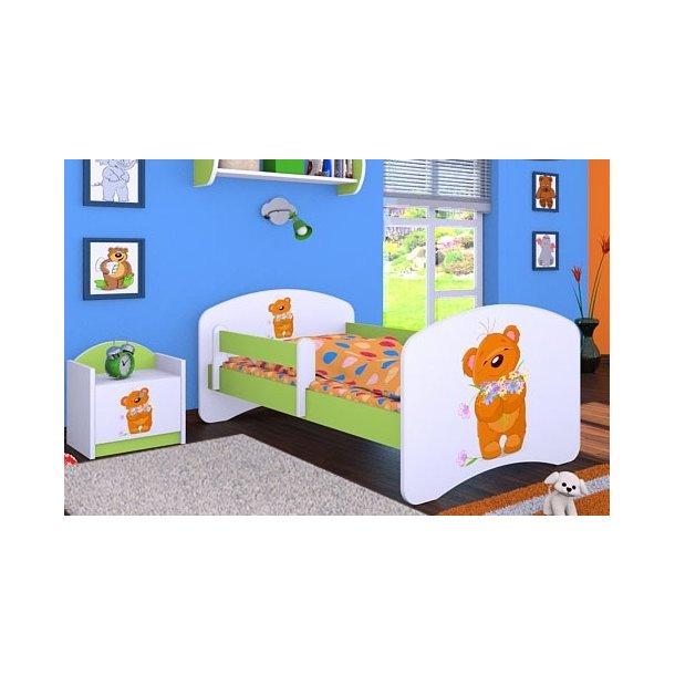 Detská posteľ bez šuplíku 160x80cm MACKO s kytičkou