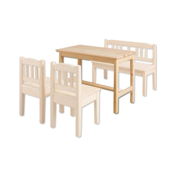 1b5f297b5f9f Detský drevený jedálenský stolík z masívu borovice ...