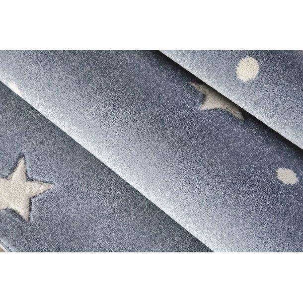 Detský koberec HEAVEN striebornomodrá / biely 100x150 cm
