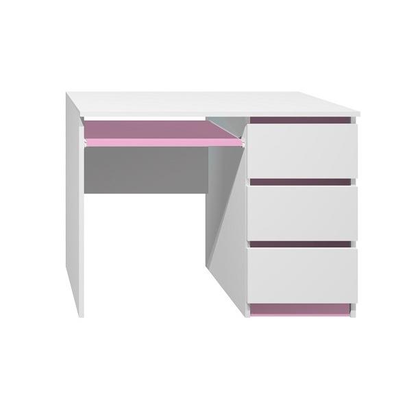 Písací stôl - CITY TYP A - ružová