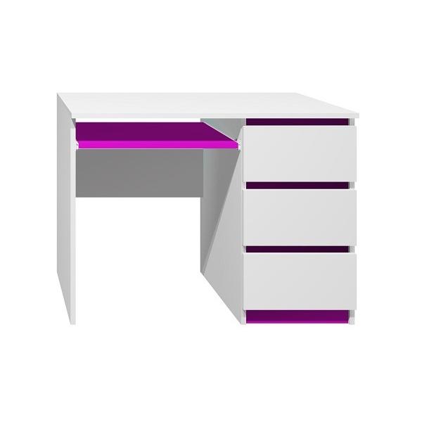 Písací stôl - CITY TYP A - tmavo fialová
