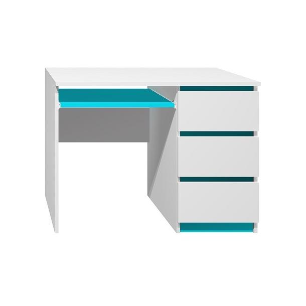 Písací stôl - CITY TYP A - tyrkysová
