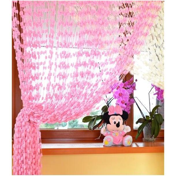 Detská záclona - ružová