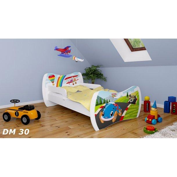 Detská posteľ bez šuplíku 160x80cm PRETEKÁRSKE DRÁHA + matrace ZADARMO!