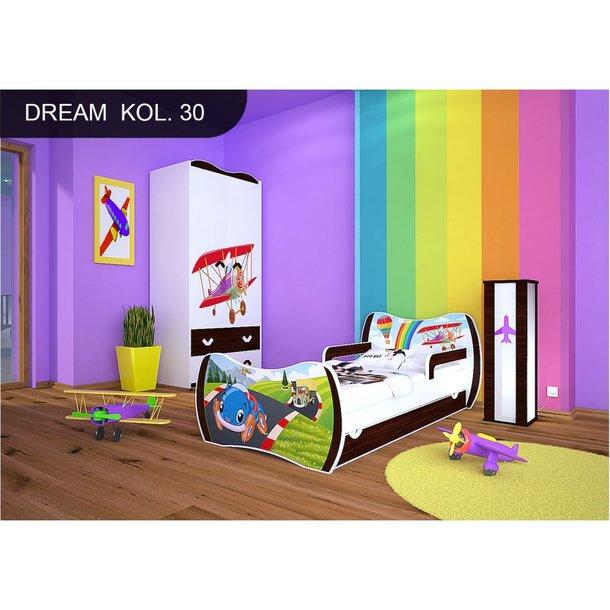 Detská posteľ so zásuvkou 160x80cm PRETEKÁRSKE DRÁHA + matrace ZADARMO!
