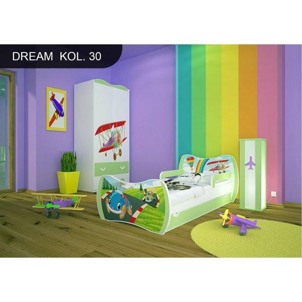 Detská posteľ so zásuvkou 180x90cm PRETEKÁRSKE DRÁHA + matrace ZADARMO!